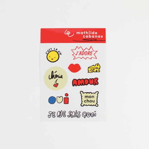 1 sheet of Frenchy stickers - Mathilde Cabanas