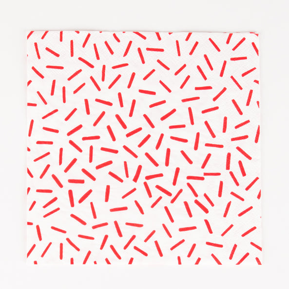 20 napkins - Red sprinkles
