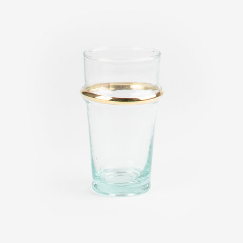 6 Beldi glasses - Golden circle