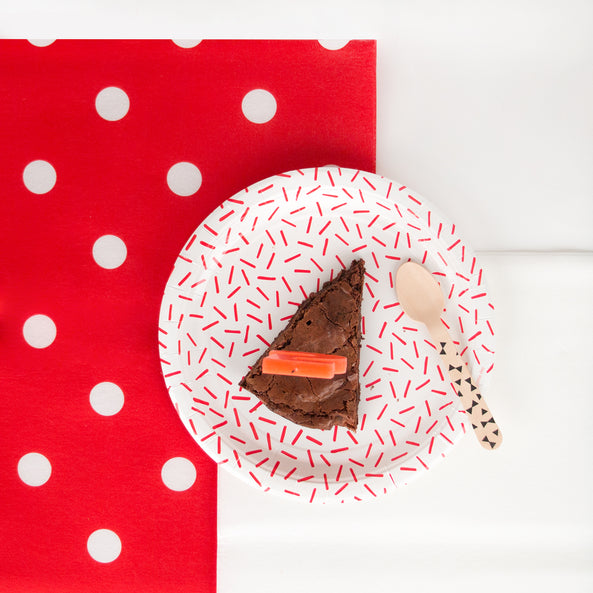 Tablecloth - Red with white polka dots