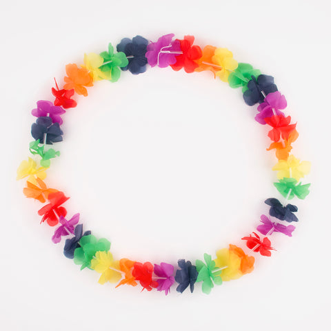 Hawaiian flower necklace - Multicoloured