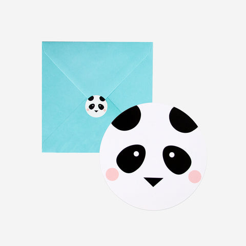 8 invitations - Mini panda