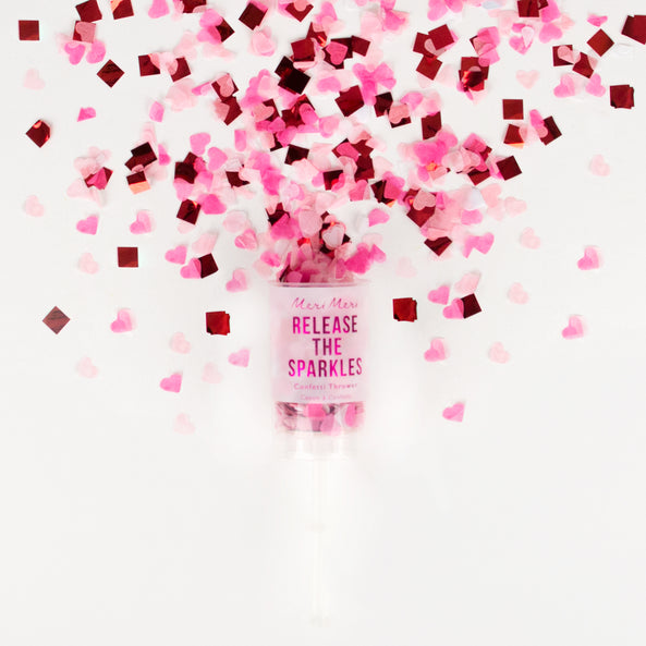 1 confetti thrower - Pink & red hearts