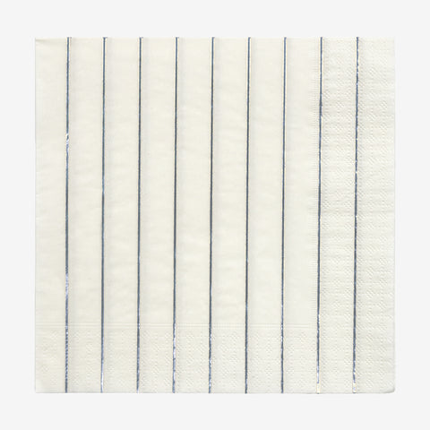16 napkins - Silver stripes