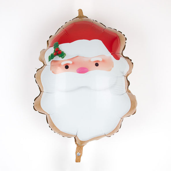 Santa cookie foil balloon