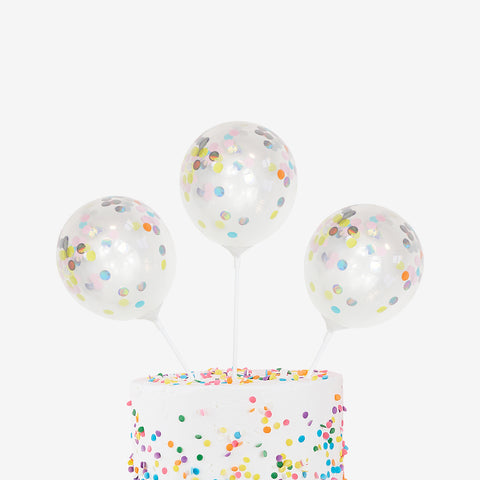 5 toppers - Pastel confetti balloons