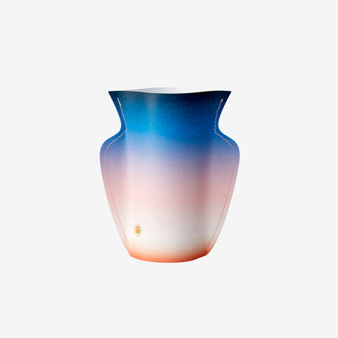 Cosmos Small Paper Vase - color gradation