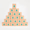 Advent Calendar - 24 kraft boxes with gold polkadots