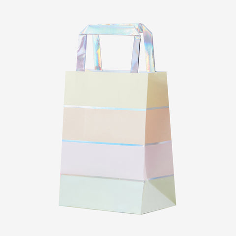 5 gift bags - Pastel and iridescent