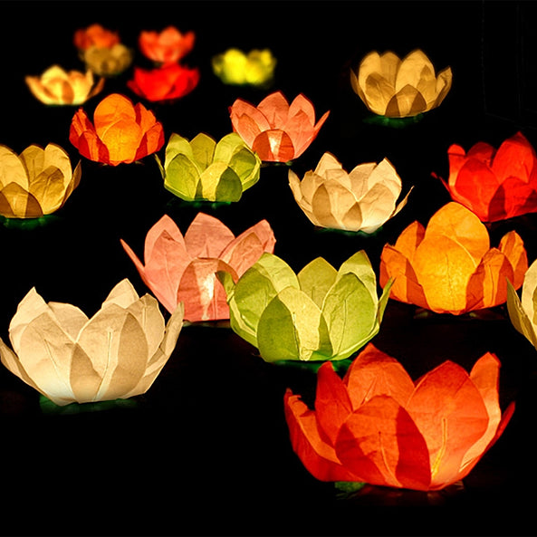 6 floating lanterns - Multicoloured