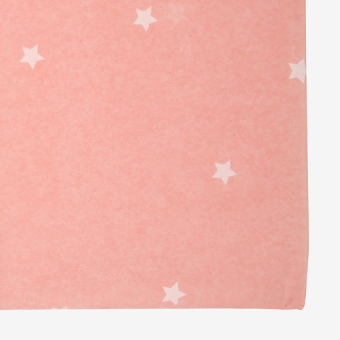 Pink scattered stars tablecloth