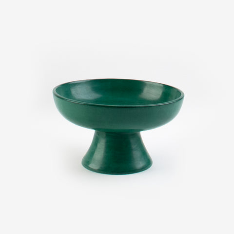 Tadelakt fruit bowl - Small dark green model