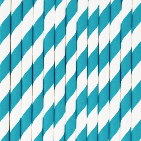 25 straws - Blue stripes