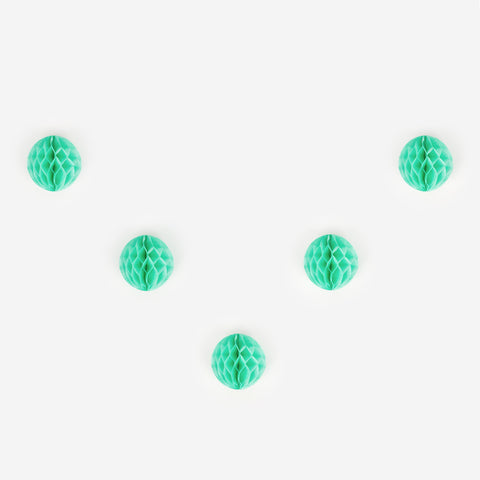 5 honeycomb balls - Light Green