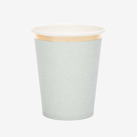 12 paper cups - Blue and gold
