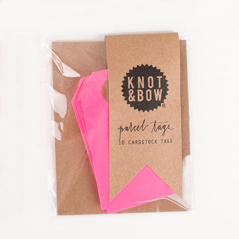10 gift tags - Neon pink