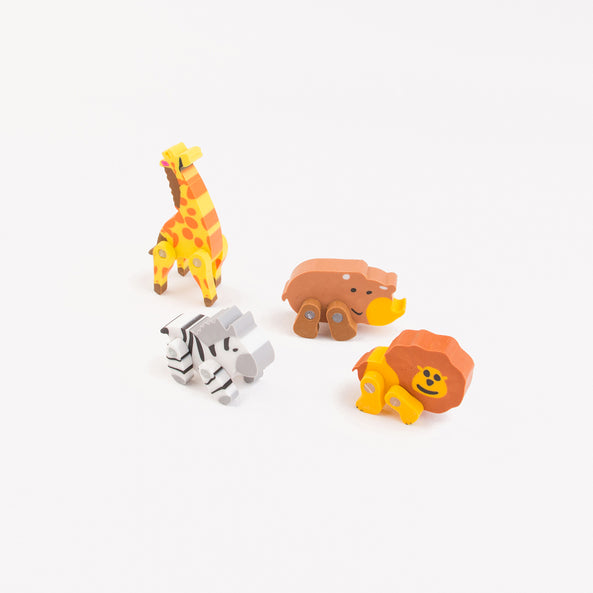 1 Savannah animal eraser