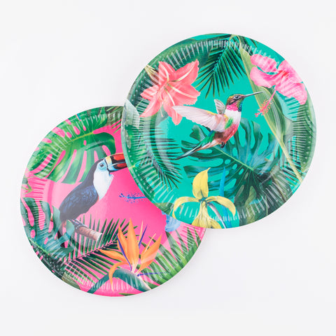12 large plates - Tropical