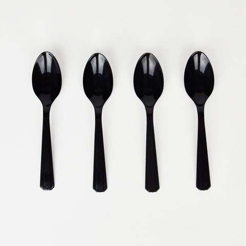 10 small spoons - Black