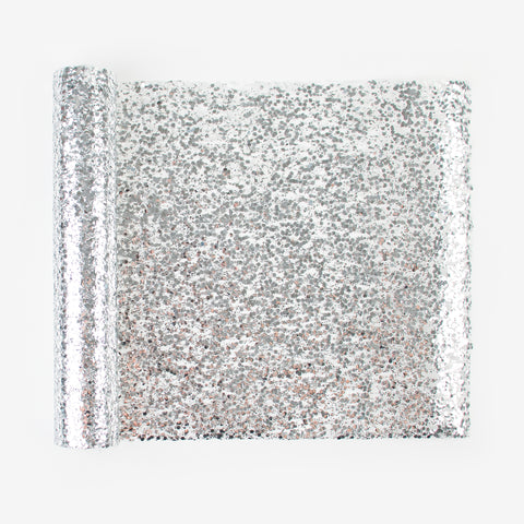 1 glitter table runner - Silver