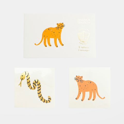 2 tattoo sheets - Wild animals