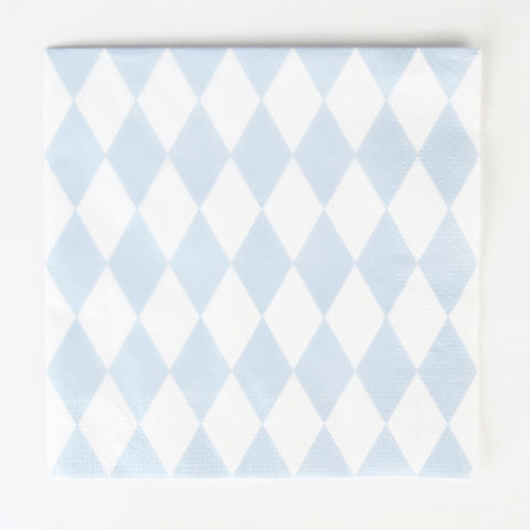 20 napkins - Blue diamonds