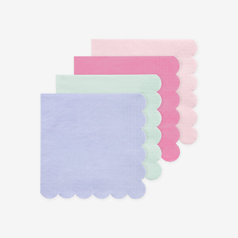 20 small compostable napkins - Pastel - Meri Meri