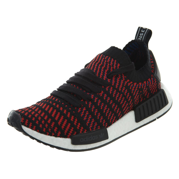 Adidas NMD R1 STLT Primeknit BlackRed Athletic Shoes Mens Style :CQ2385
