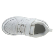 Nike Court Borough Low TDV Triple White Strap  Boys / Girls Style :870029 - NY Tent Sale