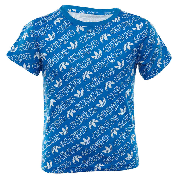 Adidas Trefoil Monogram Tee Toddlers Style : Dn8158