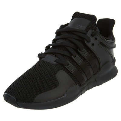 Adidas EQT Support ADV Black Knit Textile Running Shoes Mens Style :D96771