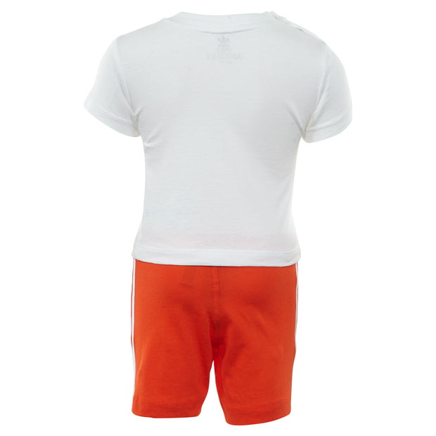 Adidas Short Tee Set Toddlers Style : Dv2814-WHITE/ACTORA - NY Tent Sale
