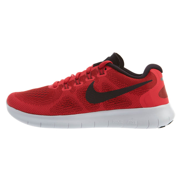 61677fb8692a Nike Free RN 2017 Running Shoe Red Black Womens Style  880840
