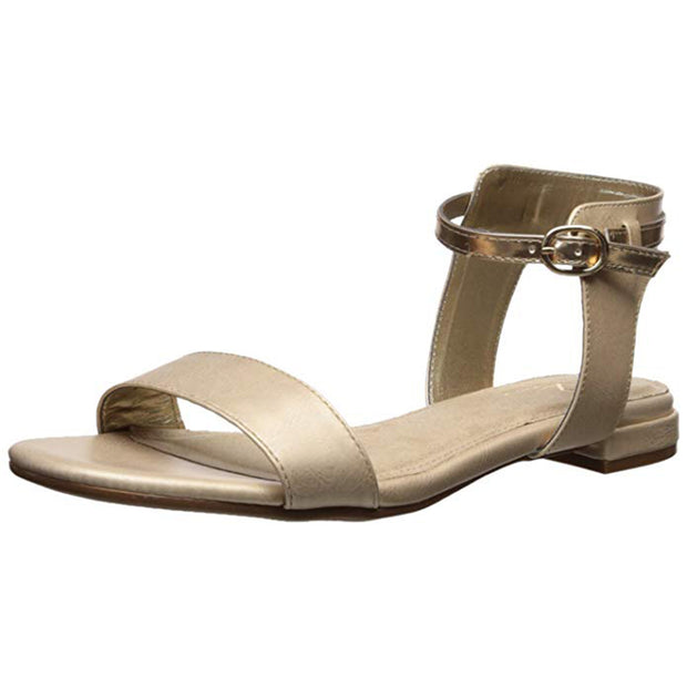 Down Under Flat Sandal Womens Style : Down Under-GOLD
