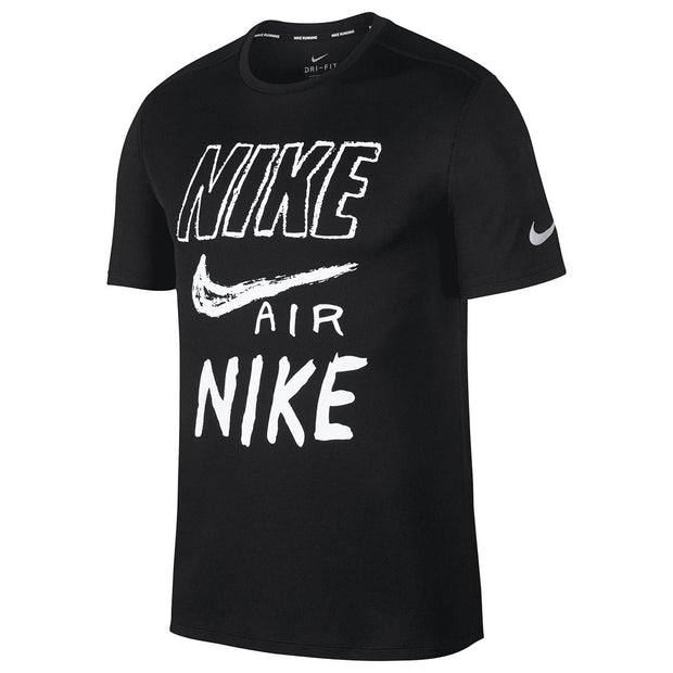Nike Breathe Run Short Sleeve T-shirt Mens Style : Aj7584-010 - NY Tent Sale