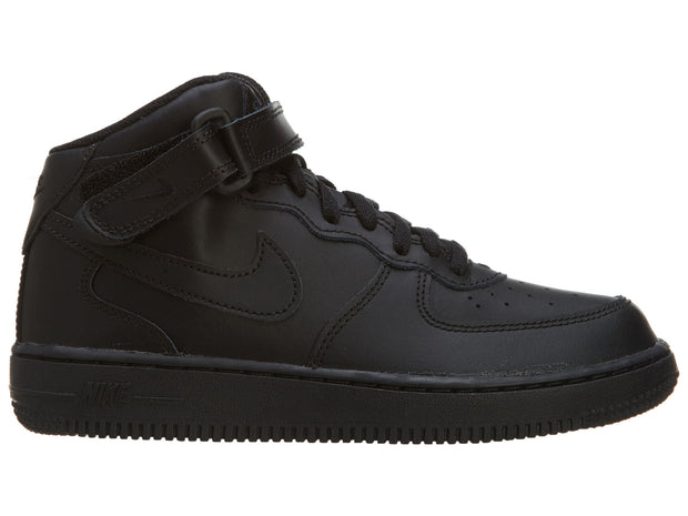 Nike Air Force 1 Black Mid Top Basketball Shoes Boys / Girls Style :314196