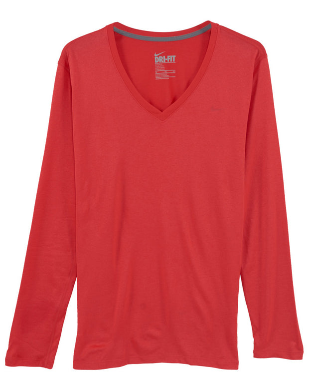Nike Regular Long-sleeve Legend Tee V-neck Womens Style : 543244 - NY Tent Sale