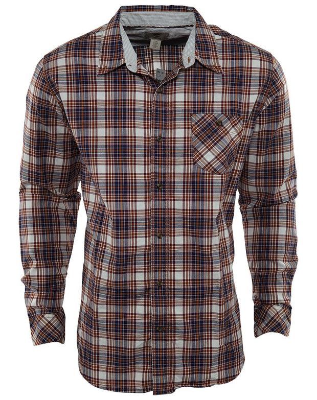 Timberland Timberland 'Allendale River' Regular Fit Plaid Organic Cotton Blend Sport Shirt Mens Style : 5531j