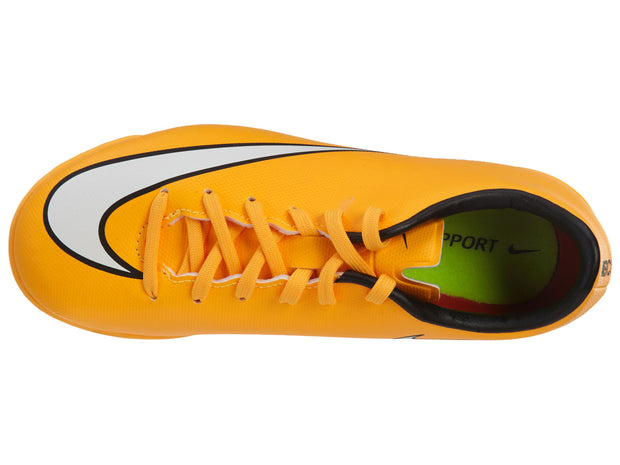 Nike Jr Mercurial Victory V IC Indoor Soccer Shoes Orange Boys / Girls Style :651639