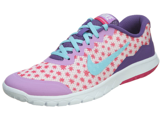Nike Flex Experience 4 Print GS Pink Shoes Girls Girls Style :749822