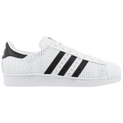 Adidas Originals Superstar Gridded Leather White Black Mens Style :AQ8333