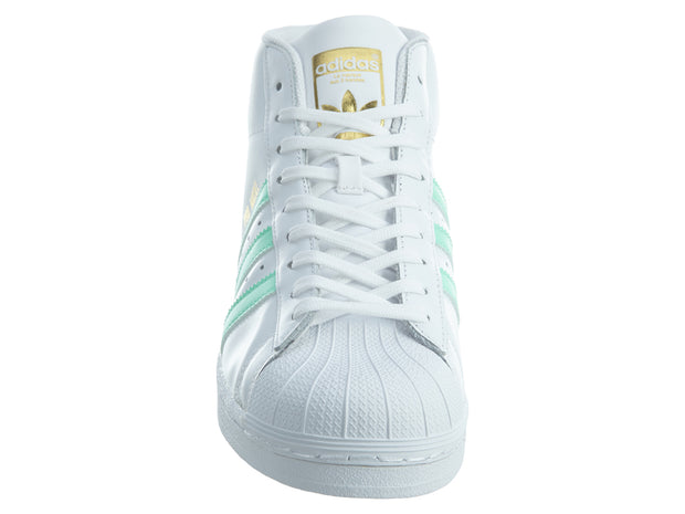 Adidas Pro Model White Electric Green Gold Leather Mens Style :BY3728 - NY Tent Sale