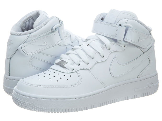 super popular 953bd 6db60 Nike Air Force 1 Mid GS Shoes White High Top Trainers Boys / Girls Style  :314195