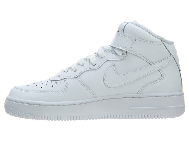separation shoes 459f8 28be3 Nike Air Force 1 Mid GS Shoes White High Top Trainers Boys   Girls Style