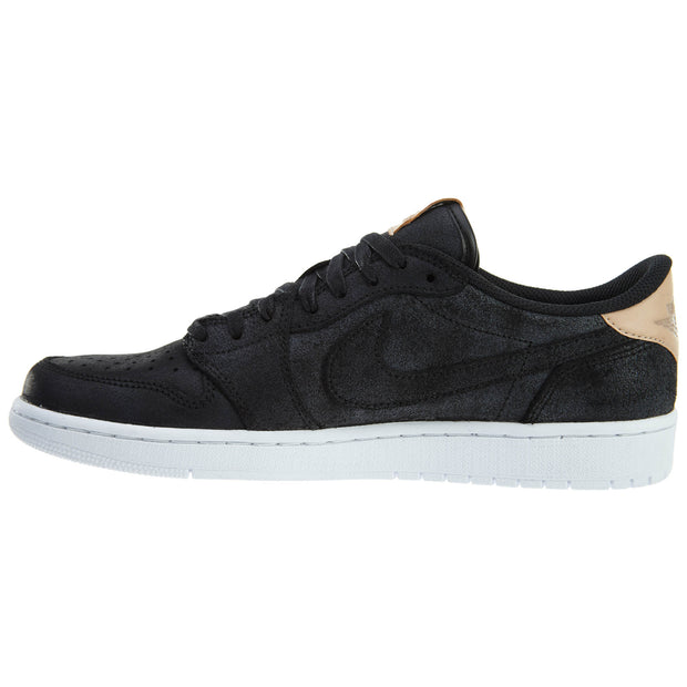 Nike Air Jordan 1 Retro Low OG Prem Black Vachetta Mens Style :905136