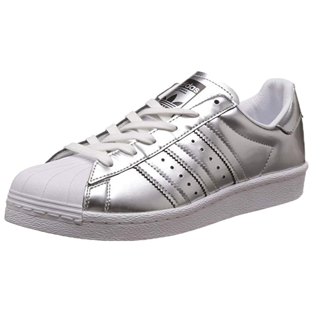 Adidas Superstar Boost Silver Metallic Leather Womens Style :BB2271
