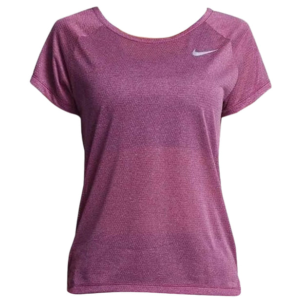 Nike Breathe Short Sleeve Running Top Womens Style : 831780