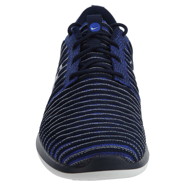 Nike Roshe Two Flyknit Navy Blue White Mens Style :844833 - NY Tent Sale