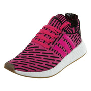Adidas NMD R2 PK Sneakers Fuchsia Black White  Mens Style :BY9697