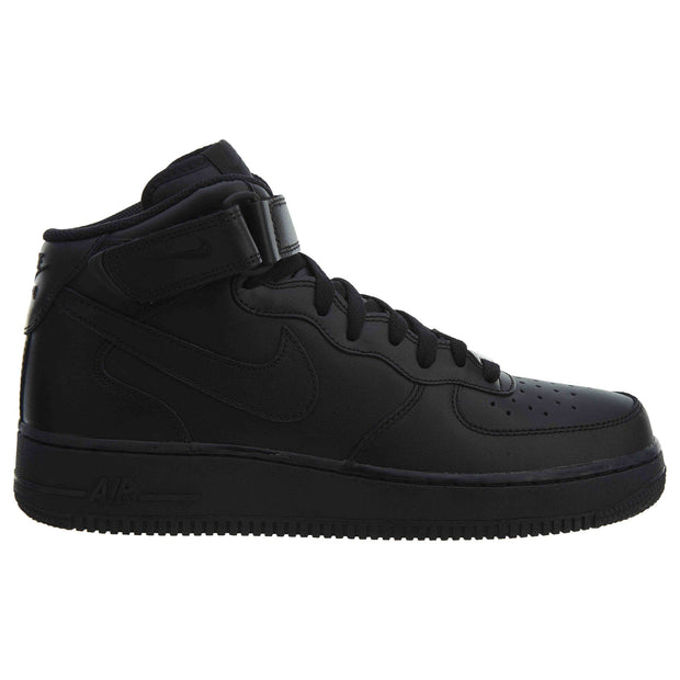 size 40 8cf75 c7242 Nike Air Force 1 High Top Sneakers Black Leather Mens Style  315123